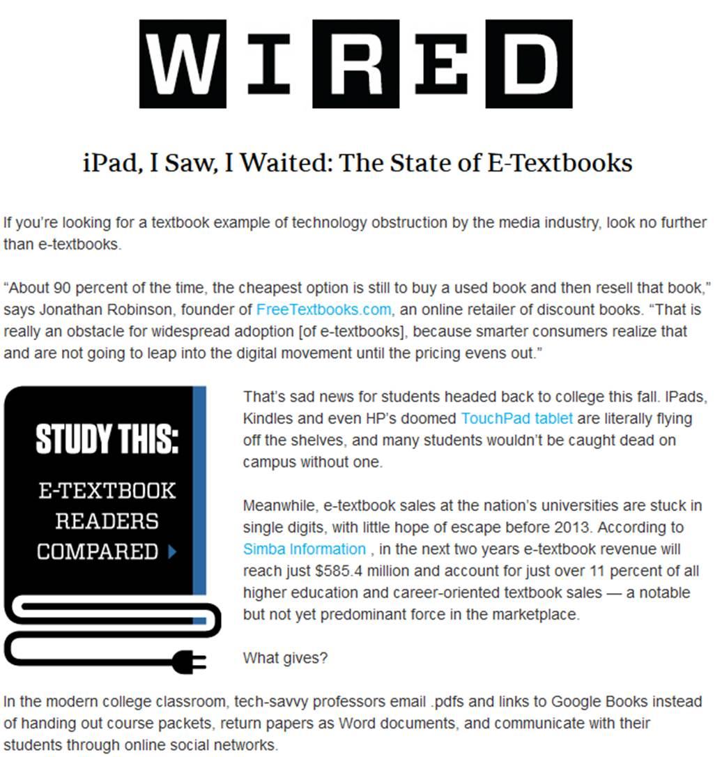 Wakefield & CourseSmart in Wired - Wakefield Research